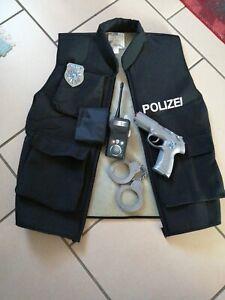 Fasching oder Halloween Polizei Weste Jungs gr. 152