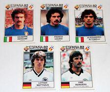 Panini WM WC ESPANA 82 1982 – 5 UPDATE STICKERS Teams ITALY GERMANY RARE!