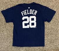 VTG Prince Fielder Detroit Tigers Mens XL Majestic Jersey Tshirt MLB Baseball AL