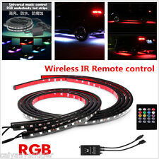 RGB 8-Color LED Strips Under Car Underbody Music Control Glow Light Kit+  Remote