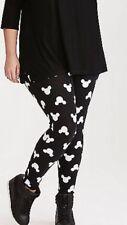 Torrid 3x plus Disney Mickey Mouse Leggings Size 3 NWT black white new