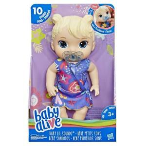 Baby Alive Baby Lil Sounds: 11'' Interactive Blonde Hair Baby Doll for Ages 3+