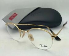 New RAY-BAN Rx-able Eyeglasses RB 3947V 2500 51-22 145 Round Semi Rimless Gold