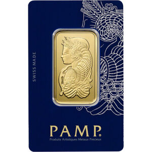 1 oz. Gold Bar - PAMP Suisse - Fortuna - 999.9 Fine in Sealed Assay