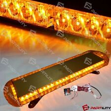 33 inch 56 LED Amber Yellow Emergency Warn Truck Strobe Tow Light Bar Roof
