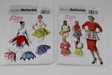 Butterick Retro Apron Patterns One Size and Small Med Large B5435 and B5579