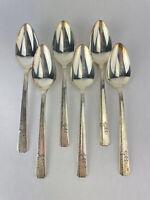 GRENOBLE Prestige Heirloom Silver Plate 1938 Silverware Flatware 6 Large Spoons