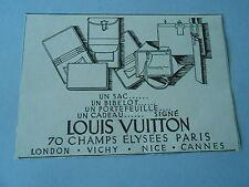 1926 Original Louis Vuitton Sac portfeuille cadeau Print Pub AD
