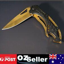 Rainbow blade folding knife hunting knife pocket knife Camping  Titanium Gold