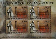 GEORGE STEPHENSON & Hackworth's S&D ROYAL GEORGE Train Stamp Sheet/2012 Burundi