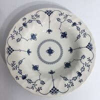 Churchill Finlandia Dinnerware Rimmed Soup Bowl Blue and White