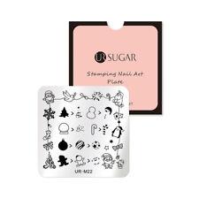 UR SUGAR Stamping Template Square Stamp Plate Christmas Series Nail Art UR-M22