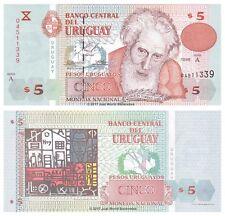 Uruguay 5 Pesos 1998 Series A  P-80a Banknotes UNC