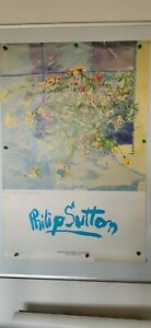 Philip Sutton Exhibition Poster The Flowers From Crown House