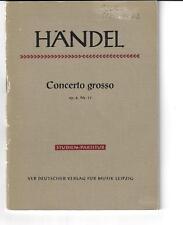 Händel * Concerto grosso op. 6 Nr. 11 *  Studien-Partitur