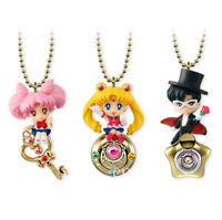 3pcs/Set Anime Sailor Moon Twinkle Dolly PVC Figure Keychain Toys Gift