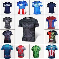 Homme vêtements Batman Avengers Super Héros courtes T-Shirt Cyclistes Maillots