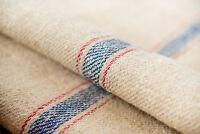 Grain Sack Fabric Antique Blue stripes pillow bench cushion Grain Sack