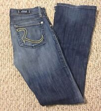 Rock And Republic ($200 Saks) Vintage Dark Wash Slim Boot Low Rise Jeans Size 25