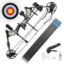Pro Compound Right Hand Bow Kit 30-70lbs Arrow Archery Target Hunting Camo Set