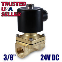 """3/8"""" 24V DC Electric Brass Solenoid Valve Water Gas Air 24 VDC - FREE SHIPPING"""