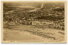 CPA - Carte Postale - Belgique - Ostende - Panorama de la Digue et de la Plage