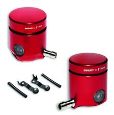 Ducati By Rizoma Front Brake & Clutch Reservoir Set, Red, 899 959 1299 Panigale