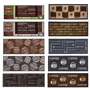 Küchenläufer Coffee Kaffee Waschbar Läufer Küchenteppich Küche 12 Motive