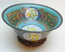 Fine Large 19th C. Chinese Cloisonne Bowl w/ Dragons & Phoenix  c. 1900  antique