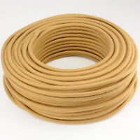 Textilkabel, Leitung Faser umflochten, rund, Abaca Gobi, 3x0,75 H03VV