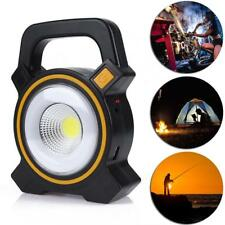 Portable Solar Charge COB LED Work Light Flood Truck Boat Bar Camping Tent Lamp