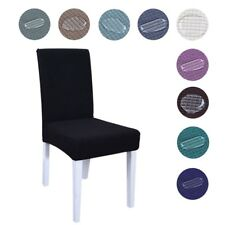 Chair Cover Waterproof Stretchy Slipcover Solid Dining Room Banquet Seat Decor