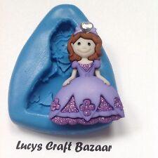 Silicone Mould Princess 3 Fairytale Sugarcraft Cupcake Topper Chocolate Sculpey