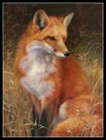 Red Fox 2 - Chart Counted Cross Stitch Pattern Needlework Xstitch craft DIY DMC