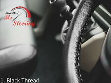 FOR IKCO ARISUN -BLACK STEERING WHEEL COVER DIFF STITCH
