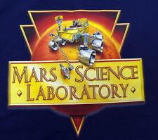 MARS SCIENCE LABORATORY CURIOSITY ROVER NAVY T SHIRT XL JPL NASA  NEW