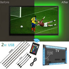 4 x USB Powered Computer TV Backlight Kit RGB Colour Change 5050 LED Light Strip