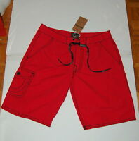 """NWT TRUE RELIGION Andrew mens red board/surf shorts tag size 40 actual  42""""  $98"""
