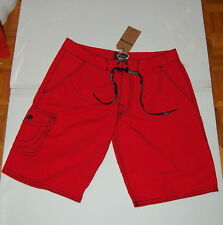 """NWT TRUE RELIGION Andrew mens red board/surf shorts tag size 40 actual  41""""  $98"""