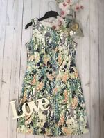 Coast Size 10 floral iris tea party occasion wedding guest holiday dress vgc min