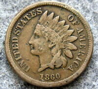 UNITED STATES 1860 CENT INDIAN HEAD