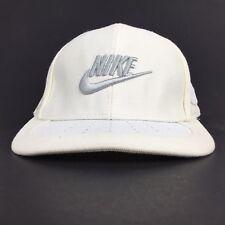 Nike Twenty Swoosh Logo White Baseball Cap Hat Flex Fit Men's M 7 1/8 - 7 3/8