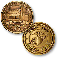 NEW USMC U.S. Marines Tun Tavern Bronze Antique Challenge Coin. 47000.