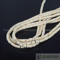 "White Howlite Turquoise Gemstone Heishi Spacer Beads 3mm 4mm 6mm 8mm 10mm 16"""