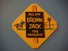 Vintage Beer Coaster Mat >< For A Hot Race Tip ~ All on Brown Jack The Favourite