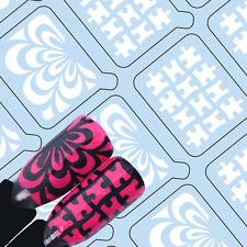 20Tips UR Sugar Adhesive Nail Vinyls Water Marble Puzzle Nail Art Hollow Stencil