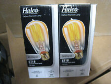 2 HALCO LIGHTING 20006 ST18ANT40 40 Watt ST18 Antique Medium Base 120 Volt Bulb