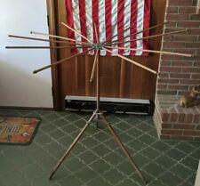 Antique Artmoore Wooden Umbrella Clothes Drying Tree Rack 12 Arm