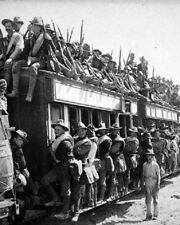 "Military train with soldiers of the 17th Infantry 8""x10"" World War I WW1 Photo 8"