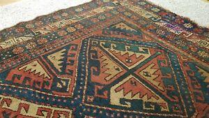 Antique Oriental Hand Made Wool Rug Carpet - 1650mm x 1080mm